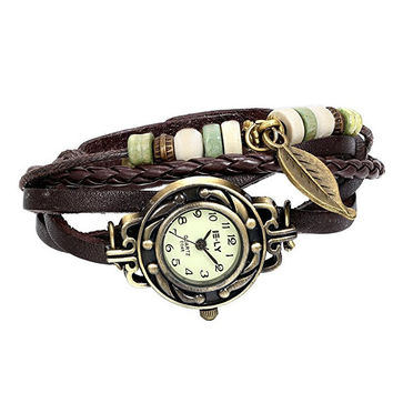 Fashion Leather Bracelet Wrist Watch