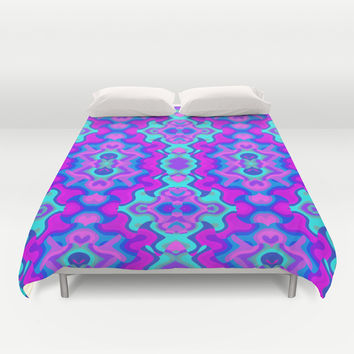 Psychedelic Wallpaper Duvet Cover by Kirsten Star