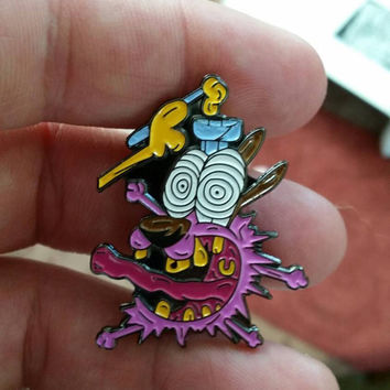 Courage the Cowardly Dog hat pin