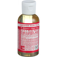 Dr. Bronner's Magic Soap - Pure Castile - Liquid - 18 in 1 Hemp - Rose - 2 oz