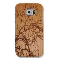 Tree BranchPattern Real Handmade Natural Wood Wood Samsung Galaxy s6 Case, HTC One M9 Wood Case