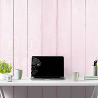 Styled office mockup, office stock, styled photo, blue wall, pink wood panel wall mockup, blank wall mockup, styled stock photo, styled room