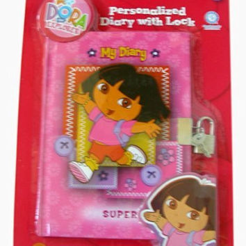 Dora The Explorer Diary - Dora personalized Diary w/ Lock