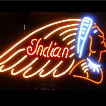 Indian Motorcycle Auto Neon Sign