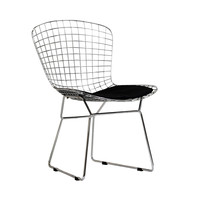 Wire Basket Chair in Black