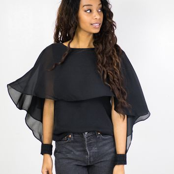 Madelyn Flutter Cape Top