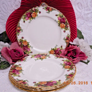 Royal Albert China Dinnerware England Old country roses 4 Bread plate