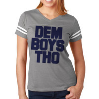 DEM BOYS THO Matching Family Jerseys Womens Football Tee | Dallas Cowboys Wpmens Jersey | Dallas Cowboy Men Football Jersey | Nfl Tee Jersey