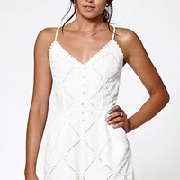 Kendall & Kylie Button Front Embroidered Romper at PacSun.com