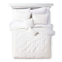 Embroidered Colette 5 Piece Comforter Set - Whit...: Target
