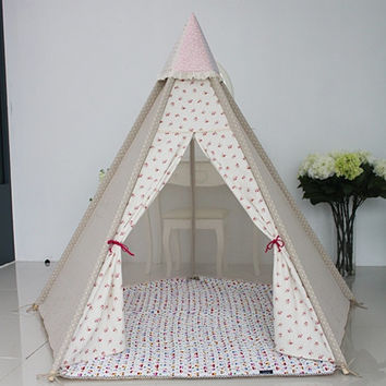 Teepee tent for summer, baby children play tent, indian tent