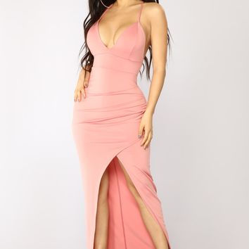 First Love Maxi Dress - Rose
