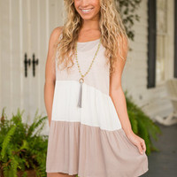 Positive Perspective Dress, Taupe