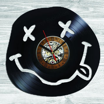 Nirvana wall vinyl clock art ! NOT: bracelet necklace nevermind