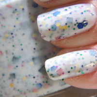 Party Nail Polish White Confetti Glitter Nail Polish by KBShimmer