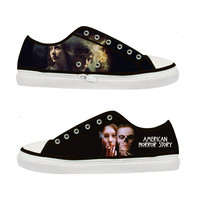 Tate Langdon Violet Harmon American Horror Story Women Canvas Shoes - Sizes: US 5 6 7 8 9 - EUR 36 37 38 39 40
