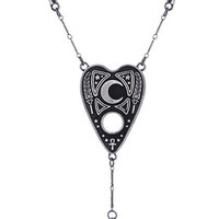 Goth Ouija Spirit Board Necklace with Ankh, Cross, Karnak and Pendulum
