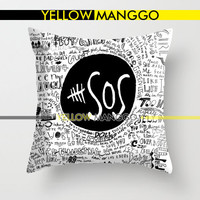 """5SOS Liryc Quote Pillow Case Cover Bedding 18""""x18""""  Unique Gift."""