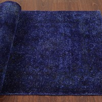 Rugsville Overdyed Navy Blue Rug 11058 | Overdyed, Rugsville.com
