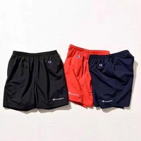 LMFUF3 Champion Letter Printed Sports Shorts Pants