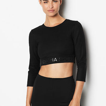 Logo Long-Sleeve Crop - Victoria Sport - Victoria's Secret