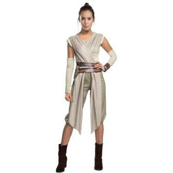 Star Wars: The Force Awakens - Womens Deluxe Rey Costume