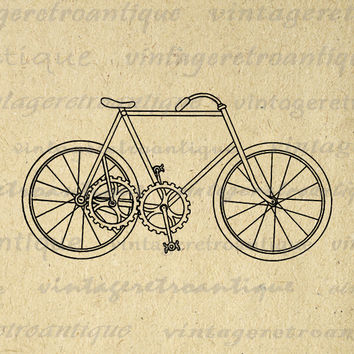 Antique Chainless Bicycle Image Digital Printable Bike Clip Art Download Graphic Vintage Clip Art Jpg Png Eps 18x18 HQ 300dpi No.3185