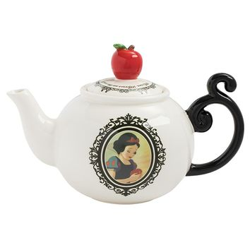 Disney by Vandor Snow White Heat Reactive Sculpted Ceramic Teapot New with Box