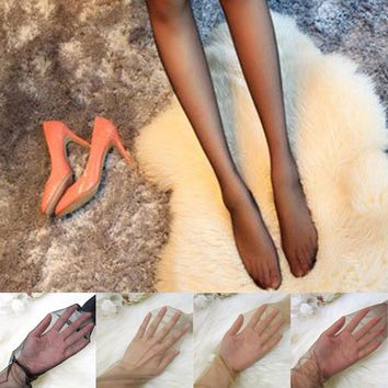 Super sexy Womens Girl Shiny Glossy Ice Silk Stocking seamless anti-hook wire bottoming Tights Pantyhose