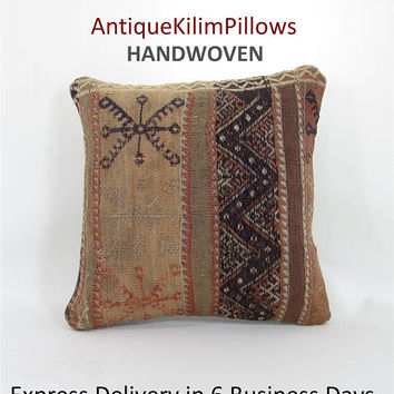 vintage pillow pillowcases kilim rug pillow pillow covers home decor vintage home decor antique kilim pillow 001085