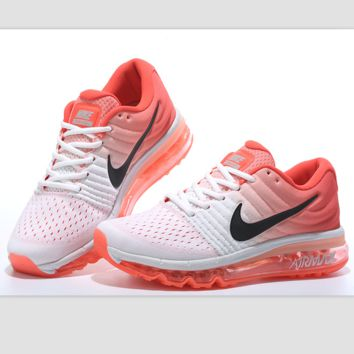 """NIKE"" Trending Fashion Casual Sports Shoes Air section Orange black hook"