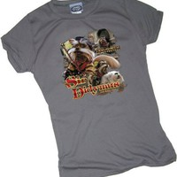 Sir Didymus -- Labyrinth Crop Sleeve Fitted Juniors T-Shirt
