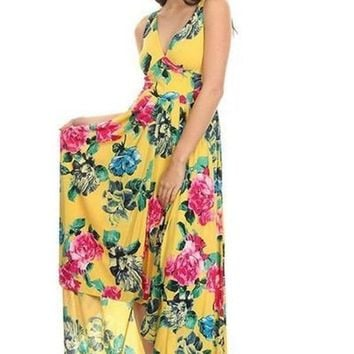 Garden Treasures Floral Maxi Dress