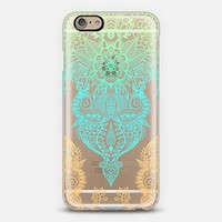 Tropical Sunset Transparent Doodle iPhone 6 case by Micklyn Le Feuvre | Casetify