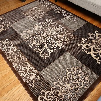 4301 Brown Transitional Area Rugs