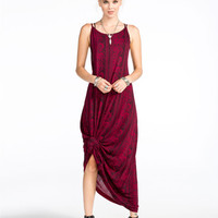 Billabong Empty Room Womens Maxi Dress Cabernet  In Sizes