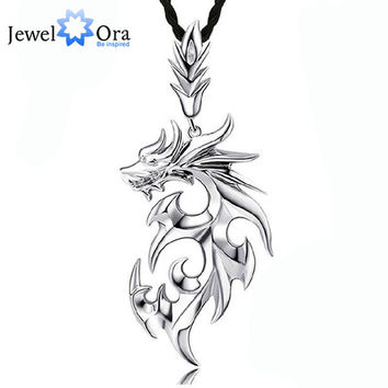 Dragon Shape Accessories Necklaces & Pendants For Men New 2016 Fashion Silver Jewelry Necklace(Jewelora NE101104)