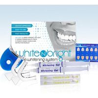 Deluxe 3D Teeth Whitening Premium Kit By White N' Brite - Professional Results Show After One Use - Same Dental-Grade Formula Used By Dentist Worldwide