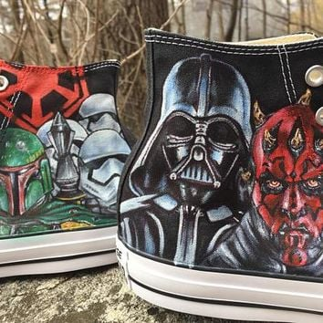 Star Wars Siths Custom hand painted Converse Shoes