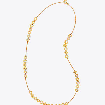 Tory Burch Geo Charm Necklace