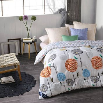 Winter comforter Microfiber edredon Quilted thicken bedding comforter printed  edredom keep warm winter quilts king size duvet