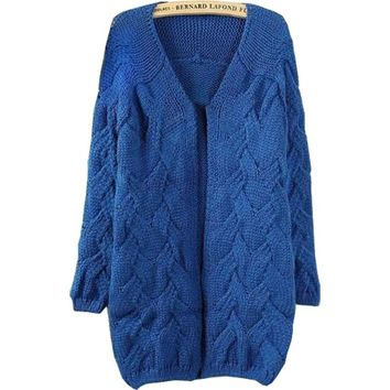 Sweaters 2018 Women Fashion Korean Style Autumn Winter New Arrive Plus Size Loose Solid Computer Knitted Cardigan Sweater 7241