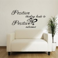 Positive thinking leads to positive - G Direct Wall Stickers
