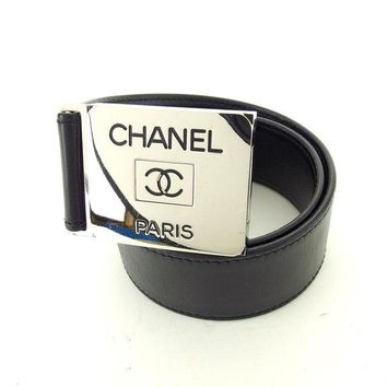 Auth CHANEL Belt COCO Mark used D1553