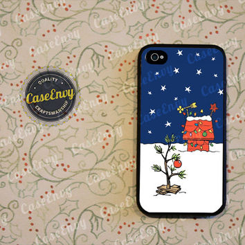 Charlie Brown Inspired Christmas Tree Phone Case! Choose iPhone 4 / 4s / 5 / 5s or Galaxy S3 / S4