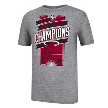 Miami Heat adidas 2014 NBA Eastern Conference Champions Ticket Tri-Blend T-Shirt - Gray