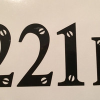 Sherlock 221 B Decal/Sticker - Perfect for laptops, doors, or cars!