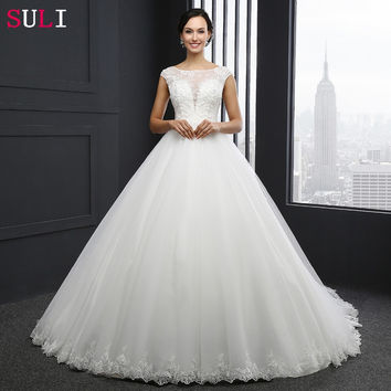 MZ-0031 New Arrival Princess Wedding Dress Custom Made Sequins Cap Sleeve Bride Dresses Tulle Wedding Dresses