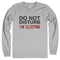 Do Not Disturb: I'm Sleeping-Unisex Heather Grey T-Shirt