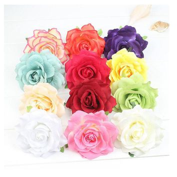 Hot Sale Summer Party Hair Clips Rose Flower Bridal Wedding Headwear Women Girl Bohemia Hairpins Beach Party Barrettes